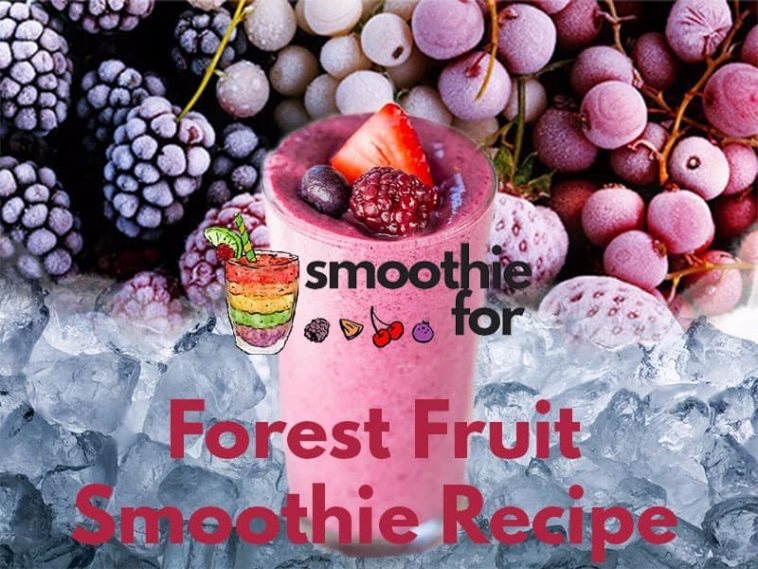 forest fruits in smoothie