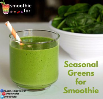 Seasonal Greens for Smoothie Seasonal Greens Greens for Smoothie Green Smoothie Recipe
