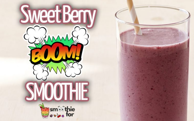 Sweet Berry Bomb Smoothie Recipe strawberry raspberry blueberry berry bomba