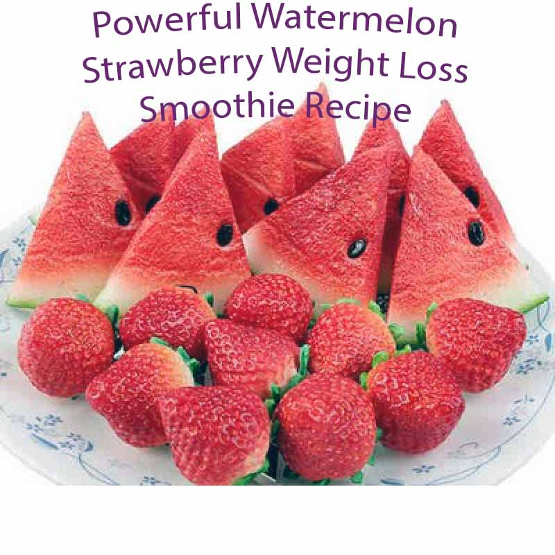 Powerful Watermelon Strawberry Weight Loss Smoothie Recipe 1